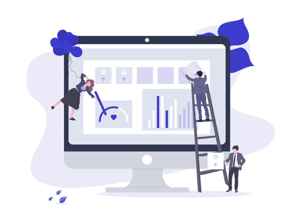 Ілюстрація розробки стратегії сайту і дизайну